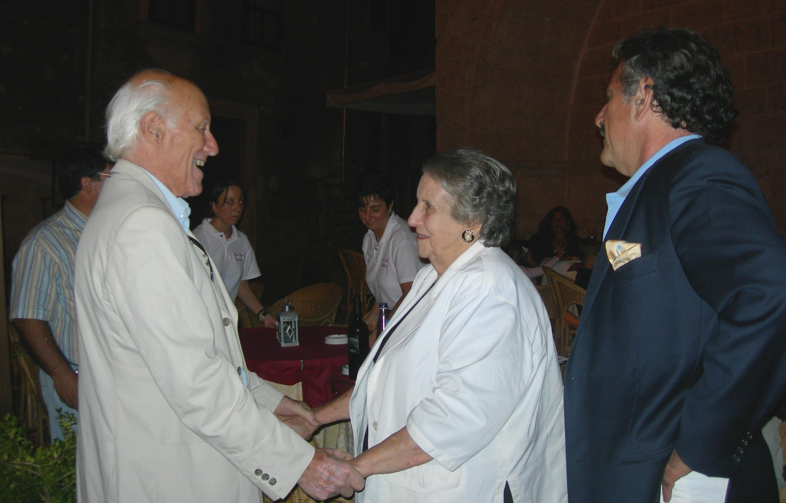 Euro Teodori con la figlia di Guido Celano