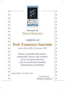Attest. socio onorario 2012
