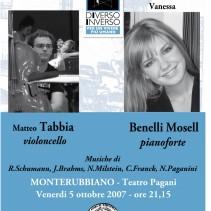 Concerto per violoncello e pianoforte M. Tabbia e V. Benelli Mosel