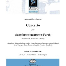 Concerto quartetto d'archi e pianoforte