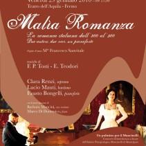 Malìa Romanza -La Romanza Italiana dall'800 al '900 – due autori, due voci, un pianoforte