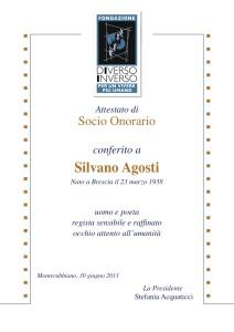 Attest. socio onorario 2013